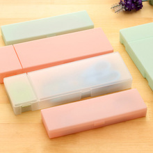 Cute Kawaii Transparent PP Plastic Pencil Case Lovely Pen Box Pencil Bag For Kids Gift Office School Supplies Free Shipping 1225(China)