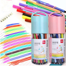 240202/Watercolor pen 36 color/stamp child water wash doodle drawing pen painting set/Hexagonal design/Cartoon patterns/