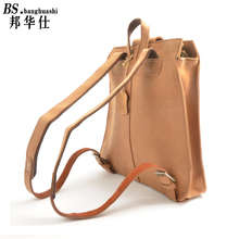 Vintage 2016 cattle real leather backpack men and women common high - capacity shoulder bag crazy Ma Tau layer of leather Bag