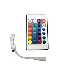 Mini 24key RGB IR Remote Controller for SMD5050 SMD3528 LED beads lamp RGB LED Strip lights(China)