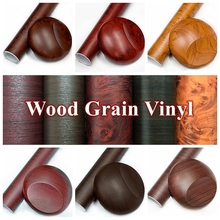 30cm*100cm/39.37''x11.81'' Free Shipping Wood Grain 3D Vinyl Stickers Car Wrap Waterproof Self-adhesive Decoration Materials