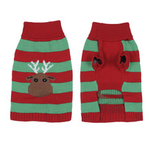 Christmas Festive Apparel Sweater For Puppy Kitten Clothes Pet Dog Cat Warm Clothes Sweaters Reindeer Design For Dog