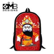 Peking opera school bags for children,cool Facial Masks backpacks for men,stylish book bag for primary students women's day pack