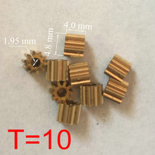 Buy RC Model Copper Small Motor Gear Pinion 10 Teeth 5 mm (M=0.4 T=10 D=4.8 H=4 d=1.95) for $5.40 in AliExpress store