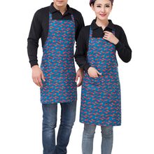 Women Men Apron Chef Waiter Aprons Bib Pinafore Nylon Sleeveless Apron With Pockets For Restaurant Kitchen Cooking Shop Art Work(China)