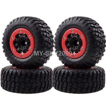 4pcs Wheel Rims & Tyres, Tires For 1/10 Traxxas Off-road Truck 1182-14 Slash 4x4 Pro-Line Racing(China)