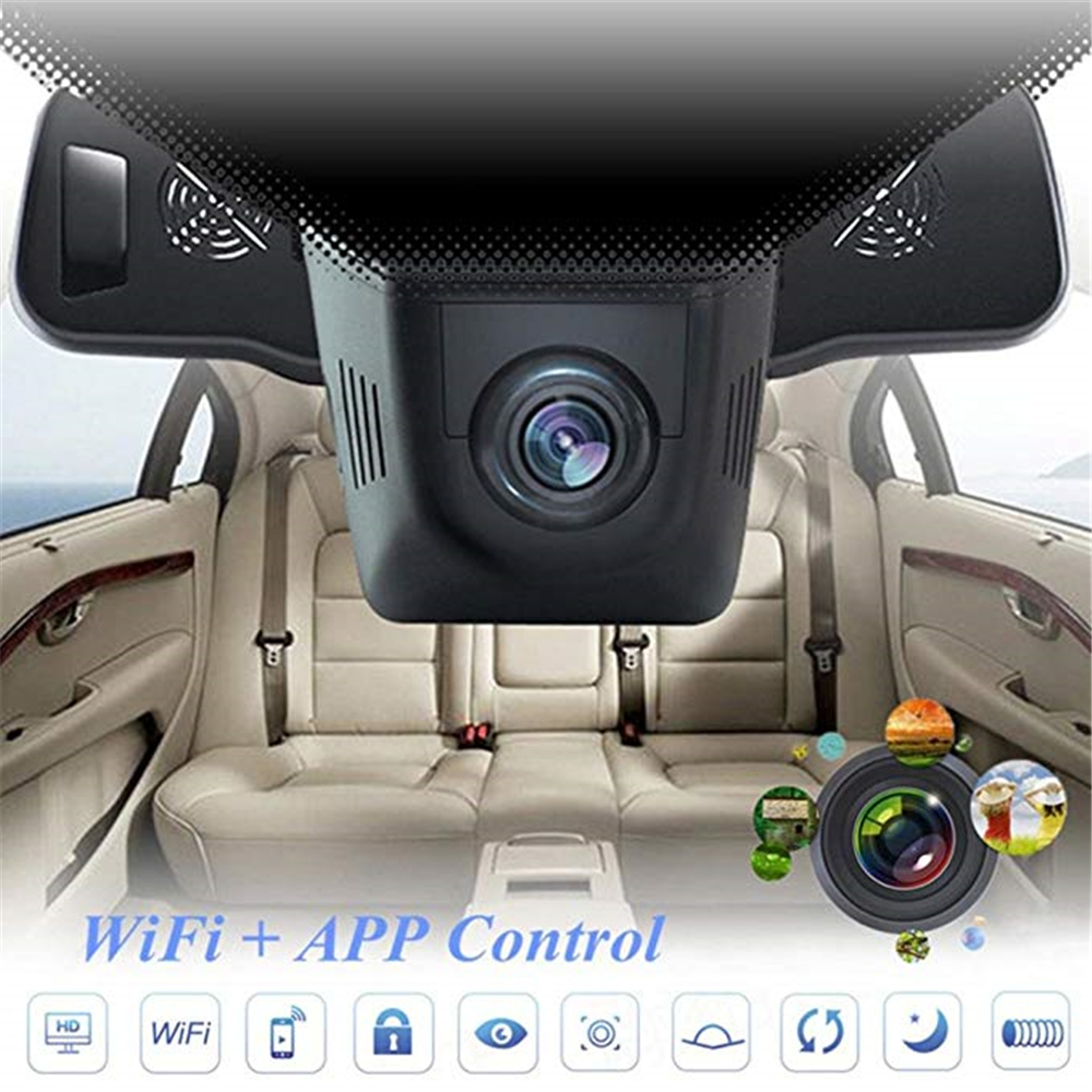 Car DVR Dashboard-Camera Vehicle G-Sensor-Loop Wifi Recording-5 160-Degree 1080P Built-In title=