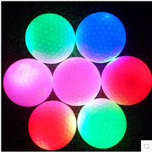 4pcs Night indoor sport funny electronic golf 4 light led flash balls yellow/red/purple/blue glowing in dark practice training
