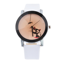 Lovely Cute Cat Watches Women 2016 Fashion Casual Female Wristwatches For Women Ladies Couples Quartz Watch  Clock