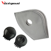 VICTGOAL Anti-Pollution Cycling Masks Filter Mouth-Muffle Dust Bicycle Sports Road Cycling Mask Face Cover Filter 3 Pcs F1703