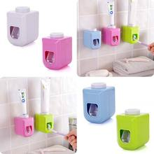 Bath Wall Mount Touch Automatic Auto Squeezer Toothpaste Dispenser Hands Free Squeeze Out LS(China)