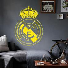 Art Design home decoration Vinyl beautiful football club mark flag Wall Sticker removable house decor PVC soccer sign decal