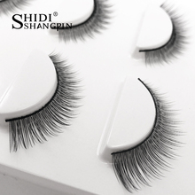 3 pairs Natural False Eyelashes Extension non magnetic eyelash lash makeup tool Maquillage cilia cilios Eye lashes Faux Cilios