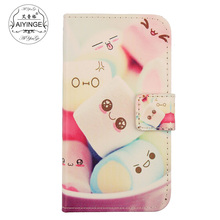 AIYINGE Colored Drawing Leather Flip PU Skin Mobile Phone Cover Book Design Wallet Pouch & Card Holder Case For nokia asha 515(China)