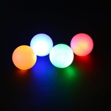 2Pcs Night Tracker Flashing Light Glow Golf Balls LED Electronic Golfing 2017(China)