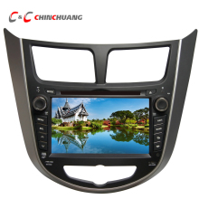 Updated Capacitive Screen Car DVD Player for Hyundai Accent Solaris Verna with GPS Radio TV Mirror Link+Free 8G Map Card(China)