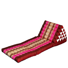 Foldout Triangle Thai Cushion 100% Kapok Filling 180x60x45cm Floor Folding Chaise Lounger Daybed Sleeper for Living Room/Outdoor(China)