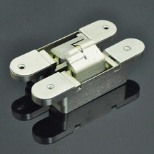 Three Dimensional Adjustable Hidden Hinge Cross Wooden Door Hinge 28*135*140mm x2(China)