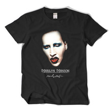 Hot Sale Fashion Marilyn Manson music rock roll T-shirts short sleeve O-neck big yard cotton plain tee 3d tshirt