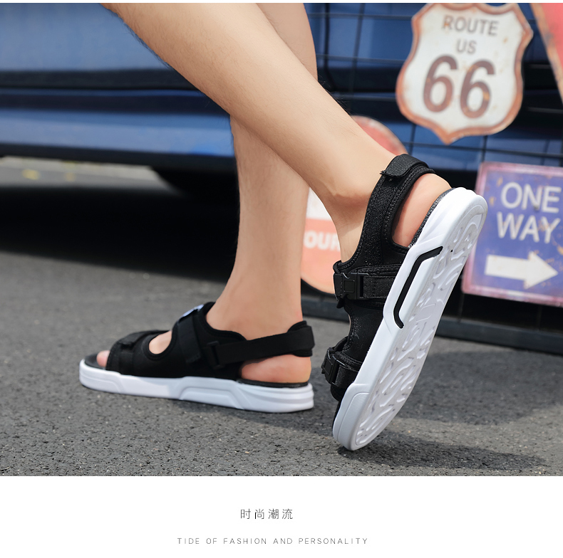 YRRFUOT Summer Big Size Fashion Men's Sandals Outdoor Hot Sale Trend Man Beach Shoes High Quality Non-slip Adult Flats Shoes 46 24 Online shopping Bangladesh