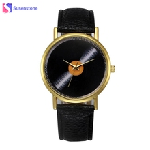 2017 New Arrival Women Leather Band Quartz Analog Wrist Watch Ladies Clock Female Casual Sport Watches relogio feminino(China)