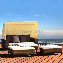 2015 new desgin hollywood outdoor daybed with sun shade