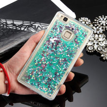 Phone Case For Huawei P10 Lite P10 Plus Cover Soft TPU Clear Liquid Sand Silicone Cover For Coque Huawei P9 P10 Lite Plus Cases(China)