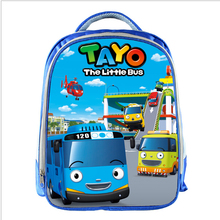 TAYO Bus Blue School Bags for Teenagers Cartoon Cars 13inch 3D Printing Boys Girls Children Kids School Bag