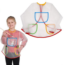 Toddler Kid Waterproof Long Sleeve Artist Craft Art Painting Cooking Apron Smock(China)