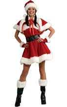 Free shipping sexy miss santa red velvet dress costume 3FFC133 christmas party velvet sexy santa outfit
