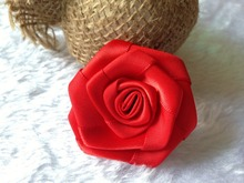 4-5cm/50PCS High Quality real touch satin ribbon roses Heads,material headdresses,applique sewing flower,DIY wrist corsages