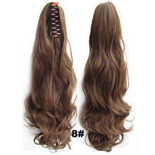 Drawstring Claw Ponytail Hair Extension Wavy Curly 55cm 160g Black Brown Heat Resistant Synthetic Fiber Fashion Women Hairpieces