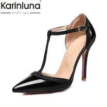 Buy KARINLUNA High 2018 Big Size 31-47 Women Shoes Sexy Thin High Heels Buckle Strap Office Wedding Pumps Woman Footwear for $27.01 in AliExpress store