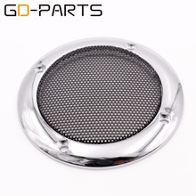 "GD-PARTS 2PCS 3.5"" Speaker Cover Car Audio Metal Grill Mesh Subwoofer Decorative Circle Tweeter Protective Cover"