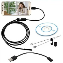 1M/1.5M/2M 7MM Android Endoscope Inspection USB Borescope Car LED Tube Snake Mini video Camera Scope For Android smart phone