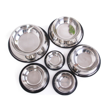 Stainless Steel Pet Dog Bowl Non-Slip Puppy Cat Feeding Drink Dish Feeder Water Food Bowl For Small Medium Large Dogs 6 Size