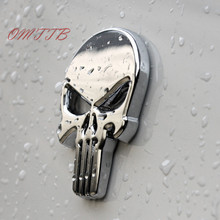 3D Metal Punisher Skull Emblem Badge Car Stickers Decals Auto Truck Motorcycle bmw benz audi mazda kia Car Styling