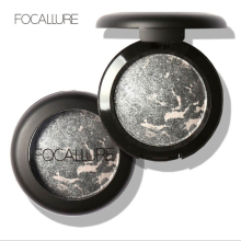 FOCALLURE 10Colors Metallic Eyeshadow Make Up Glitter Baked Eye Shadow Cosmetics Powder Minerals Single Eyes Palette