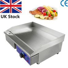 1 Piece 220V Commercial Electric Griddle Stainless Steel Flat Plate Oven BBQ Grill For Restaurant Cake Shop(China)
