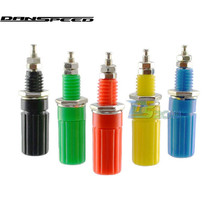 DANSPEED High Quality 5 Pcs Binding Post For 5 Colors Speaker 4mm Banana Plug Test Connector Banana Jack Panel Mount