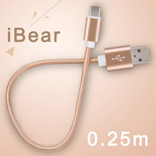 usb type-c cable usb tipe-c cables short iBear honor 8 LeEco usb c cables 25cm power bank type c cable fast charging