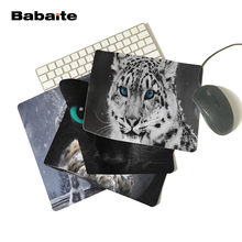 Babaite 180X220X2mm Customized Mouse Pad Wild Animals Blue Eyes Feline Snow Leopards Computer Rectangle Mouse Mat Pad(China)