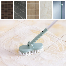 New Cleaning Tools Floor Toilet Bath Long Handle Bristle Brush Bathroom Tiles Cleaning Brush Long Handle V4127(China)