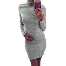 dresses Hot Sale Black/ Grey High Neck Autumn Winter Warm Long Sleeve Batwing Sleeve Turtleneck Bodycon Mini Slim Dresses DM#6