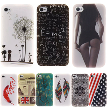 Fashion Dandelion owl lovers Pattern Slim Silicone Soft TPU IMD Crafts Cell Phone Back Cover Case for Fundas iPhone 4/iPhone 4S