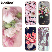 Lovebay Beautiful Flower Phone Case For iPhone 7 7 Plus 6 6s Plus 5 5s SE Cute Floral Soft TPU Phone Case For iPhone 7 6s Cover