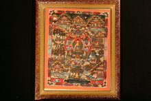 Tibetan monks hand-painted thangka When the temple city round figure 29 * 35 shakyamuni Buddha mandala coloured drawing(China)