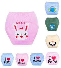 5pcs/lot 7 Colors Cotton Cloth Diaper Super Breathable And Reusable Baby Diapers Cover Kids Trainning Pants Clothes Nappy 3Sizes