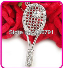nice new style hot tennis racket pendant necklace jewerly on ebay (A109899)