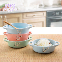 With a bowl of ceramic rice bowl home fruit bowl creative Japanese tableware bowl  HYSOO